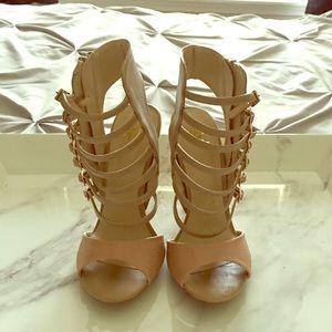 2Bebe stiletto heels with zipper enclosure